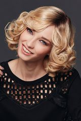 human hair-Monofilament-Wig; Brand: Gisela Mayer; Line: Echthaar; Wigs-Model: Luxery Lace H